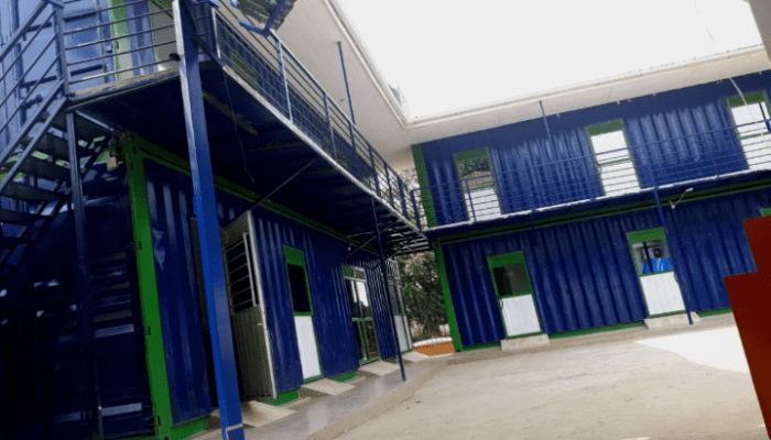 one storey container building by glorious container conversions uganda limited